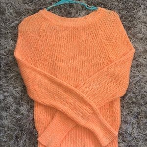 Orange Free People knitted sweater
